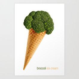 broccoli ice cream Art Print