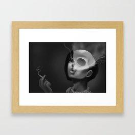 See Through The Smoke Framed Art Print