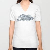 seattle V-neck T-shirts featuring Seattle by Boelter Design Co