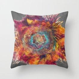 Flower Power Fractal Art Throw Pillow