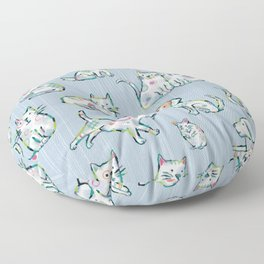 Dogs and Cats Floor Pillow