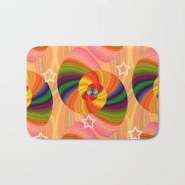 Abstract Swirls and Twirls Bath Mat