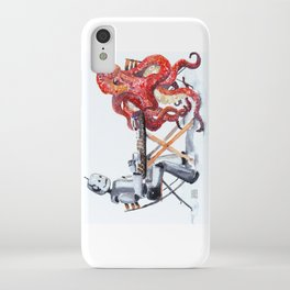 Robot Octopus Coffee Date iPhone Case