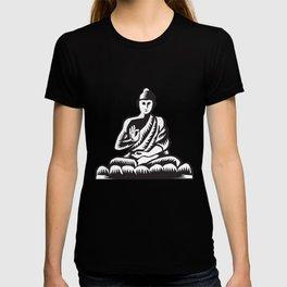 Buddha Lotus Pose Woodcut T-shirt