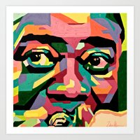 louis armstrong Art Prints featuring Louis Armstrong by Zelica Alexander