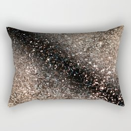 Sparkling GOLD BLACK Lady Glitter #3 #decor #art #society6 Rectangular Pillow