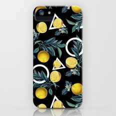 Geometric and Lemon pattern II Slim Case iPhone SE