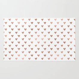 rose gold hearts Rug