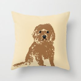 Cockapoo Dog Art Throw Pillow