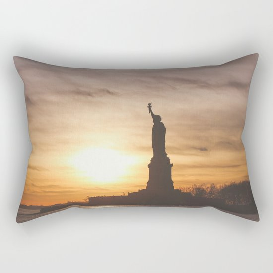 Lady at Sunset Rectangular Pillow