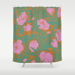 Poppies in pink Shower Curtain