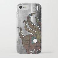 kraken iPhone & iPod Cases featuring Kraken  by Dániel Marton