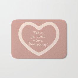 Paris, je vous aime beaucoup #4 Mauve Muted Pink Bath Mat