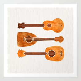 Hawaiian Ukuleles Art Print