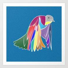 Bird - Blue Art Print
