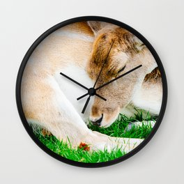 Sleeping Deer Wall Clock