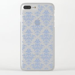 Damask Pattern | Vintage Patterns | Serenity | Pantone Color of the Year 2016 | Victorian Gothic | Clear iPhone Case