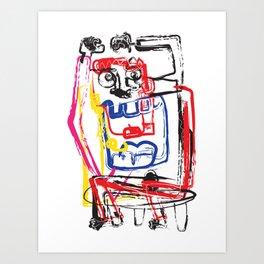 Angry Man | Graffiti Style Art Prints | Graffiti Art Prints Art Print