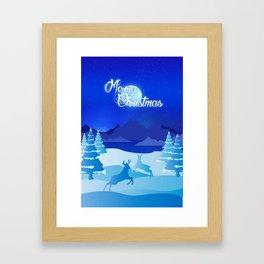 Nature's Christmas Eve Framed Art Print