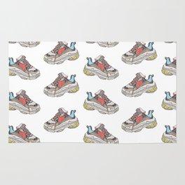 Balenciaga Triple S Sneaker Pattern Illustration Rug
