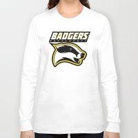 hufflepuff Long Sleeve T-shirts featuring Badgers Hufflepuff  by Fresco Umbiatore