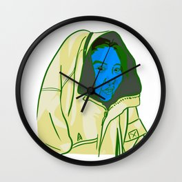 Blue Face Wall Clock