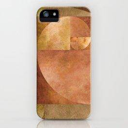 Golden Ratio, Golden Spiral Composition iPhone Case