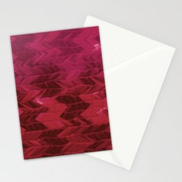 Red Faded Chevron Stationery Cards