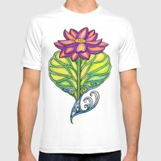 Lotus in Love MEDIUM Mens Fitted Tee White
