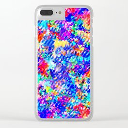 Colorful Halftone Clear iPhone Case