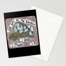 Will you be my valentine? Stationery Cards