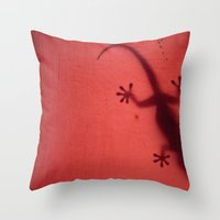 shadow Throw Pillows featuring Shadow by niL.