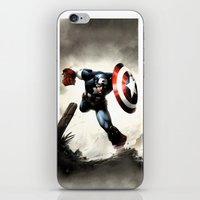 iphone 5 case iPhone & iPod Skins featuring Captain America Case Designed for iPhone 5 by dadostirlo