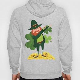 Funny Leprechaun Dab Dabbing St Patricks Day Hoody