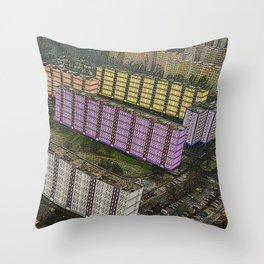 Colorful Block Buildings - Bekasmegyer - Budapest Throw Pillow