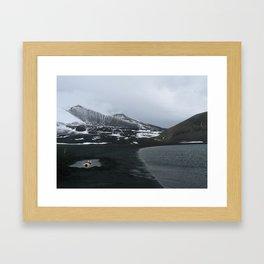 Antarctic hot springs Framed Art Print