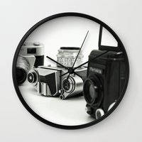 cameras Wall Clocks featuring cameras by Falko Follert Art-FF77