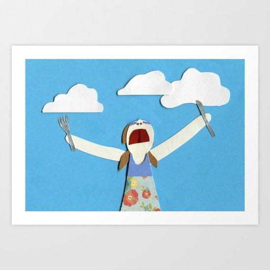 Cloud-eater Art Print