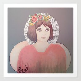 flower girl - floral Art Print
