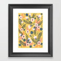 Sunshine florals Framed Art Print