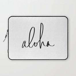 Aloha Hawaii Typography Laptop Sleeve