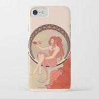 art nouveau iPhone & iPod Cases featuring Art Nouveau by Takanik