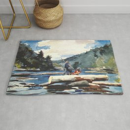Hudson River Logging 1897 By WinslowHomer | Reproduction Rug
