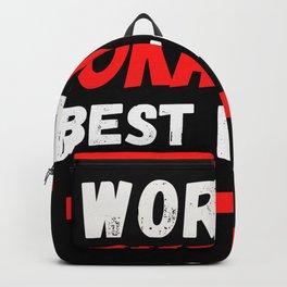 Worlds okayest Best Friend Backpack