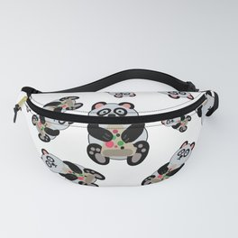 Pandas with Pizza pattern  Fanny Pack