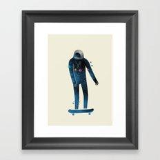 Skate/Space Framed Art Print