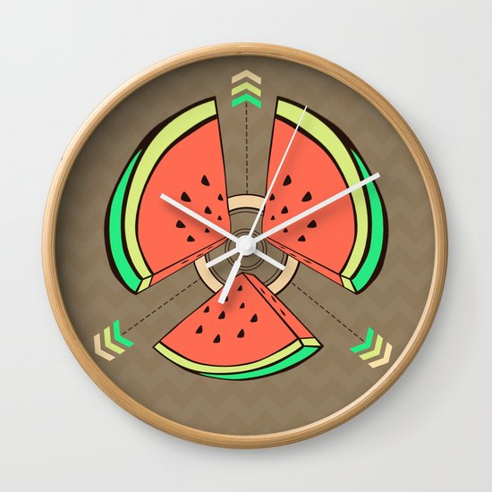 take a piece for peace Wall Clock