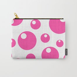 Soda Bubbles - Pink Carry-All Pouch