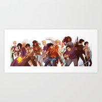 viria Art Prints featuring heroes of olympus by viria