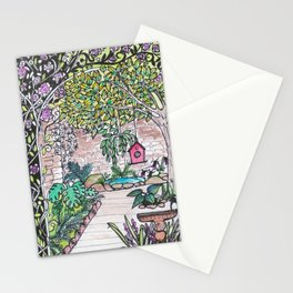 Val's Beautiful Garden Stationery Cards